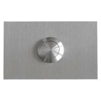 rectangular doorbell, stainless steel, flush-mounted