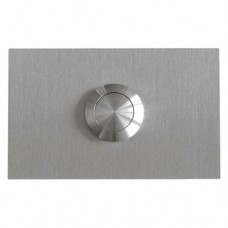 rectangular doorbell, stainless steel, flush-mounted
