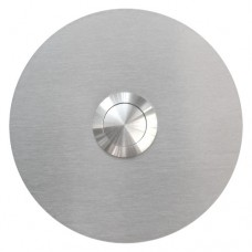 round doorbell push button, stainless steel, flush-mounted