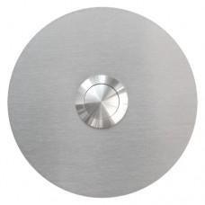 round doorbell push button, stainless steel, flush-mounted