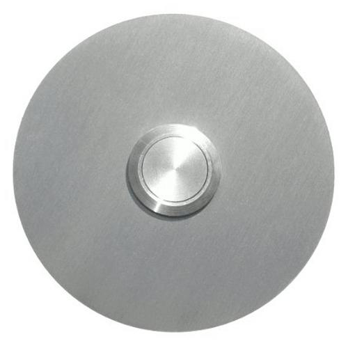 round doorbell, stainless steel, flush-mounted
