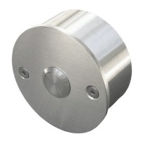 round doorbell, stainless steel, wall-mounted