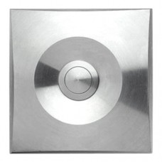square doorbell, massive stainless steel, wall-mounted