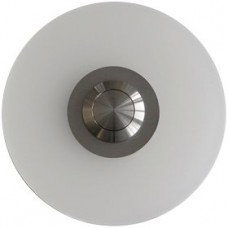 round doorbell, acrylic glass, flush-mounted